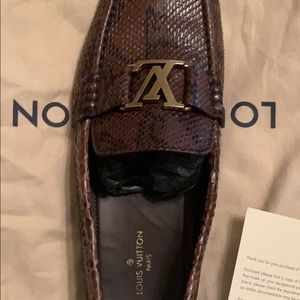 Size 100Louis Vuitton Monte Carlo Python Loafers